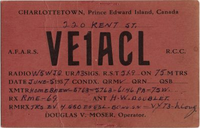 , QSL Card VE1ACL (3173), PEI Postcards