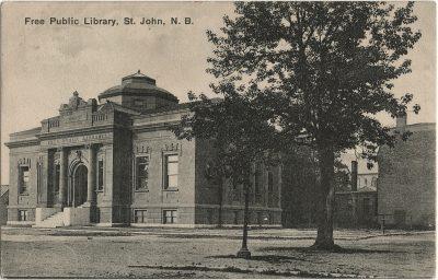 , Free Public Library, St. John, N.B. (3196), PEI Postcards