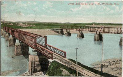 , Avon Bridges at Low Tide, Windsor, N.S. (3191), PEI Postcards