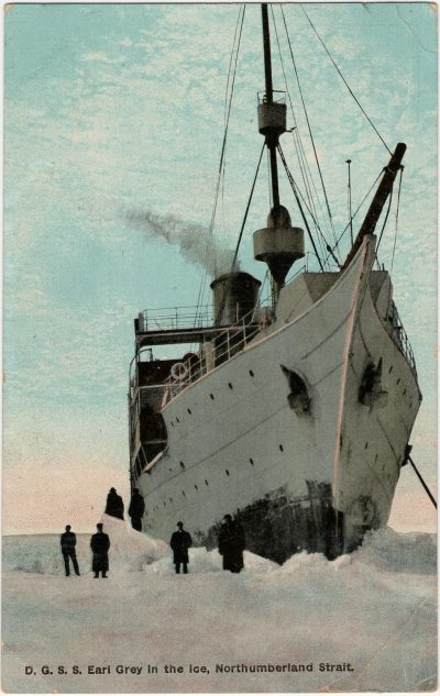 , D.G.S.S. Earl Grey in the Ice, Northumberland Strait. (3192), PEI Postcards