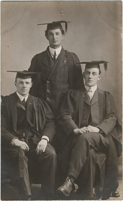 , Possibly a graduation photo of B.P. Colclough from Wycliffe College in Toronto (on right) (3187), PEI Postcards