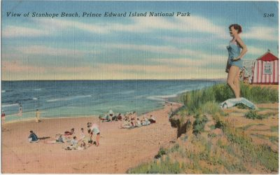 , View of Stanhope Beach, Prince Edward Island National Park (3190), PEI Postcards
