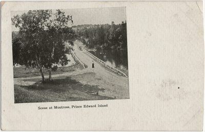 , Scene at Montrose, Prince Edward Island {cropped} (3201), PEI Postcards
