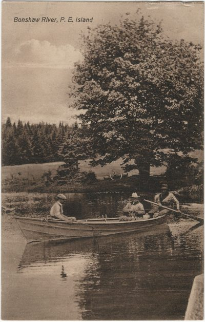 , Bonshaw River, P.E. Island (3239), PEI Postcards