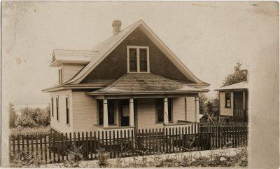 , RPPC, likely of a house in Windsor NS, probably by BP Colclough (3228), PEI Postcards