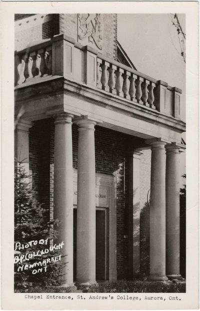 , Chapel Entrance, St. Andrew's College, Aurora, Ont. (3238), PEI Postcards