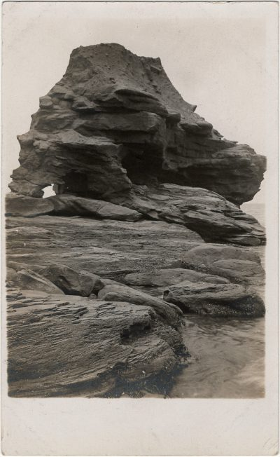 , RPPC of Sandstone rock formation, likely taken by BP Colclough. (3222), PEI Postcards