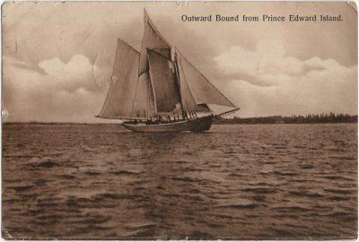 , Outward Bound from Prince Edward Island. (3221), PEI Postcards