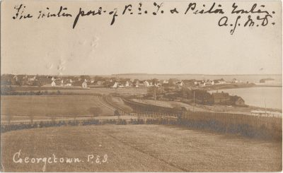 , RPPC of Georgetown, P.E.I. (3281), PEI Postcards