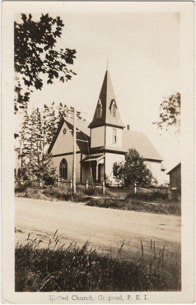 , United Church, Crapaud, P.E.I. (3284), PEI Postcards