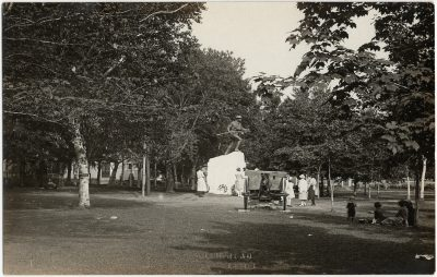 , Dominion Day 1922, monument unveiling in Dominion Park, Summerside. (3266), PEI Postcards