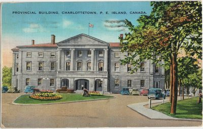 , Provincial Building, Charlottetown, P.E. Island, Canada. (3258), PEI Postcards