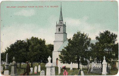 , Belfast Church near Eldon, P.E. Island. (3251), PEI Postcards