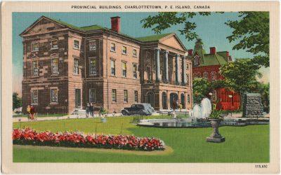 , Provincial Buildings, Charlottetown, P.E. Island, Canada. (3242), PEI Postcards