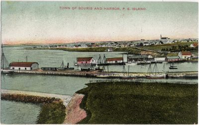 , Town of Souris and Harbor, P.E. Island (3245), PEI Postcards