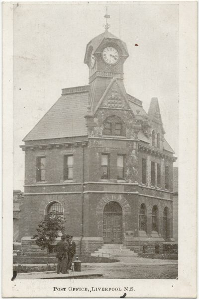 , Post Office, Liverpool, N.S. {to go with image taken by B.P. Colclough} (3265), PEI Postcards