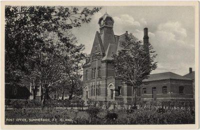 , Post Office, Summerside, P.E. Island. (0025), PEI Postcards