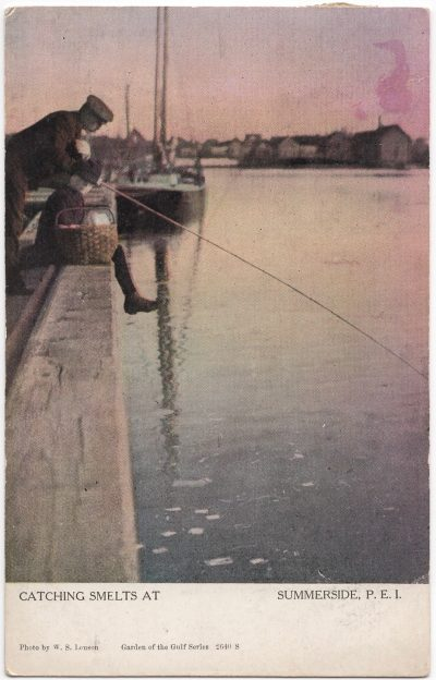 , Catching Smelts at Summerside P.E.I. (0030), PEI Postcards