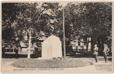 , Soldier's Monument, Summerside, P.E. Island (0005), PEI Postcards