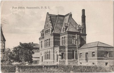 , Post Office, Summerside, P.E.I. (0028), PEI Postcards