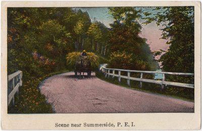 , Scene near Summerside, P.E.I. (0010), PEI Postcards