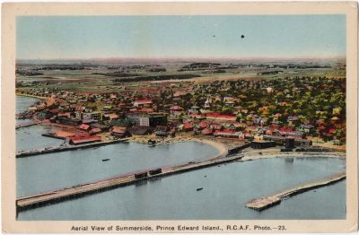 , Aerial View of Summerside, Prince Edward Island, R.C.A.F. Photo. (0014), PEI Postcards