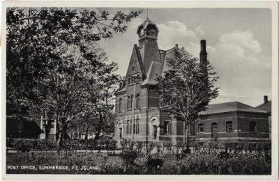, Post Office, Summerside, P.E. Jsland (typo) (0023), PEI Postcards