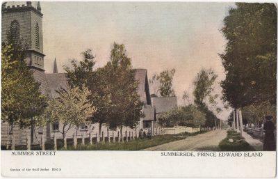 , Summer Street Summerside, Prince Edward Island (0033), PEI Postcards