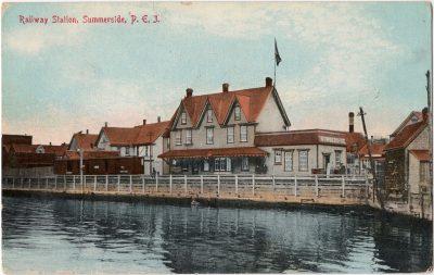 , Railway Station, Summerside, P.E.I. (0008), PEI Postcards