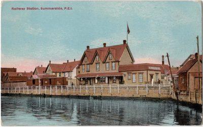 , Railway Station, Summerside, P.E.I. (0002), PEI Postcards