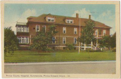 , Prince County Hospital, Summerside, Prince Edward Island (0027), PEI Postcards