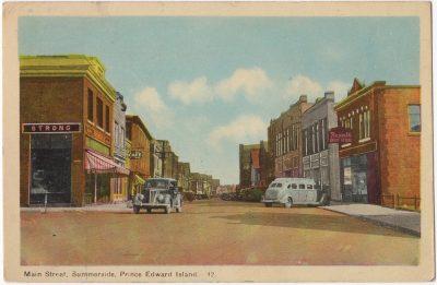 , Main Street, Summerside, Prince Edward Island. (0017), PEI Postcards