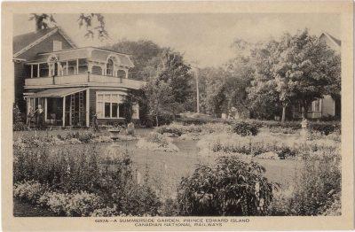 , A Summerside Garden, Prince Edward Island (0024), PEI Postcards