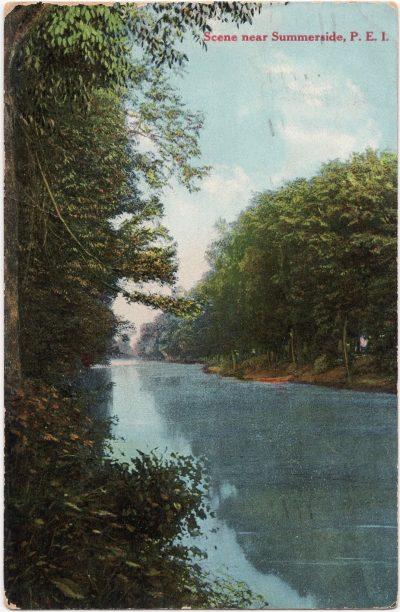 , Scene near Summerside P.E.I. (0034), PEI Postcards