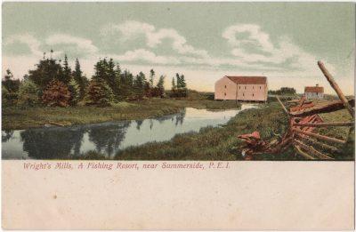, Wright's Mills, A Fishing Resort, near Summerside, P.E.I. (0029), PEI Postcards