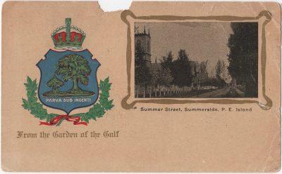 , Summer Street, Summerside, P.E. Island (0011), PEI Postcards