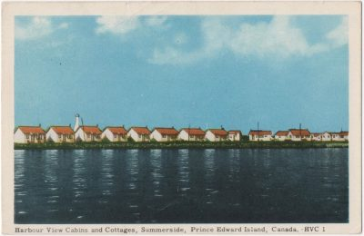 , Harbour View Cabins and Cottages, Summerside, Prince Edward Island, Canada. (0020), PEI Postcards