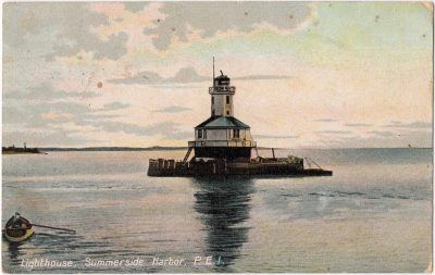 , Lighthouse, Summerside Harbor, P.E.I. (0006), PEI Postcards